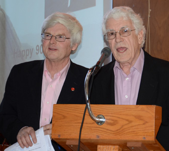 Friends of Nature President Syd Dumaresq with Silver Donald Cameron.